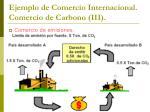 ejemplo de comercio internacional comercio de carbono iii