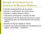 ejemplo de comercio local comercio de recursos h dricos1