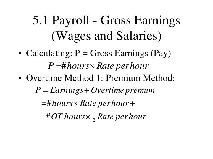 5 1 payroll gross earnings wages and salaries n.