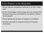 active failures or the sharp end