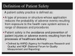 definition of patient safety