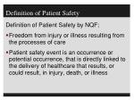 definition of patient safety1