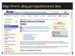 http www ahrq gov qual errorsix htm