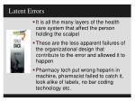latent errors