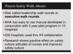 patient safety walk abouts