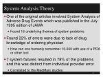 system analysis theory