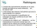 radiologues