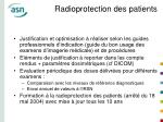 radioprotection des patients