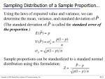 sampling distribution of a sample proportion