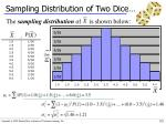 sampling distribution of two dice1