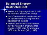balanced energy restricted diet2