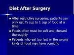 diet after surgery