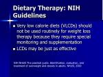 dietary therapy nih guidelines