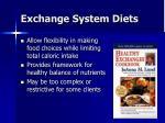 exchange system diets