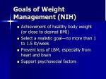 goals of weight management nih
