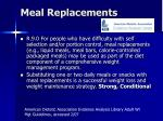 meal replacements