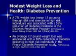 modest weight loss and health diabetes prevention