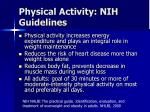 physical activity nih guidelines