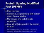 protein sparing modified fast psmf