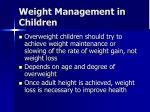 weight management in children1