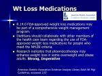 wt loss medications