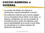 cocchi barbosa s quiebra
