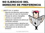 no ejercicio del derecho de preferencia