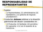 responsabilidad de representantes