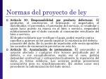 normas del proyecto de ley1