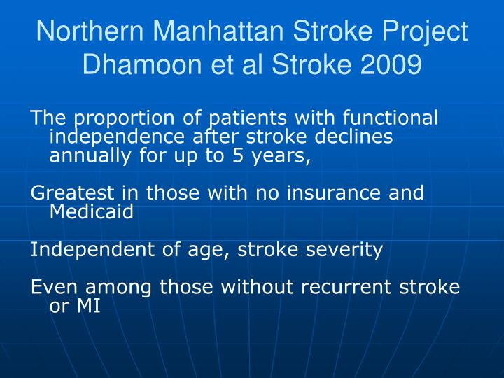 Northern Manhattan Stroke Project