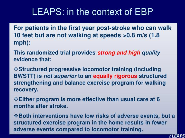 LEAPS: in the context of EBP