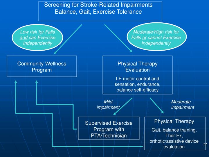 Screening for Stroke-Related Impairments Balance, Gait, Exercise Tolerance