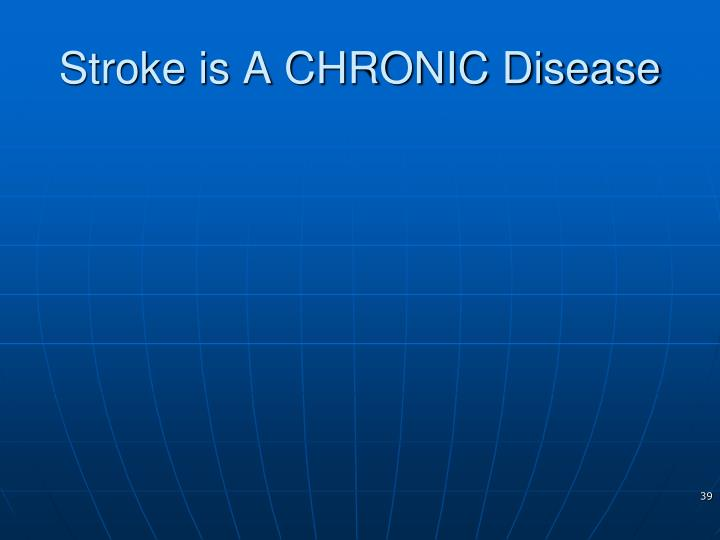 Stroke is A CHRONIC Disease