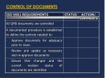 control of documents