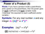 power of a product 5