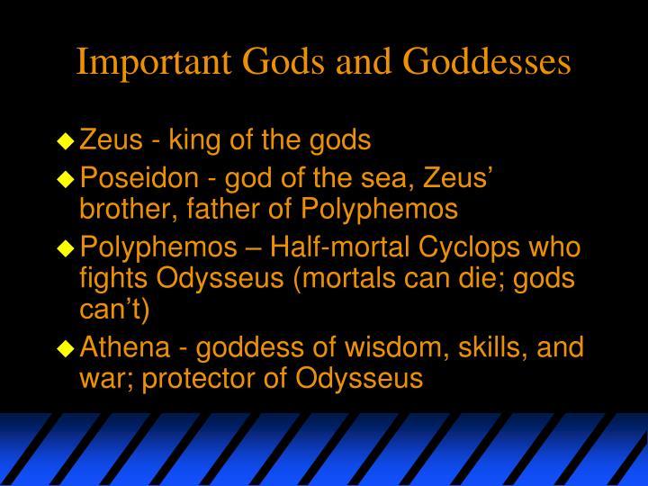Important Gods and Goddesses