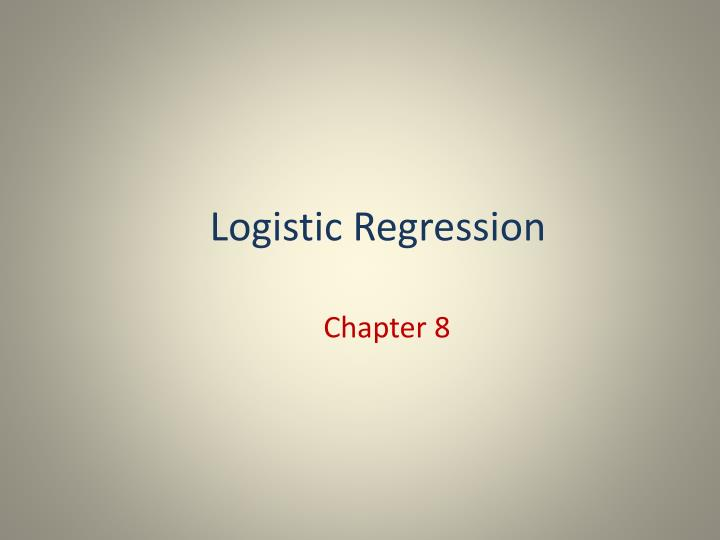 logistic regression n.
