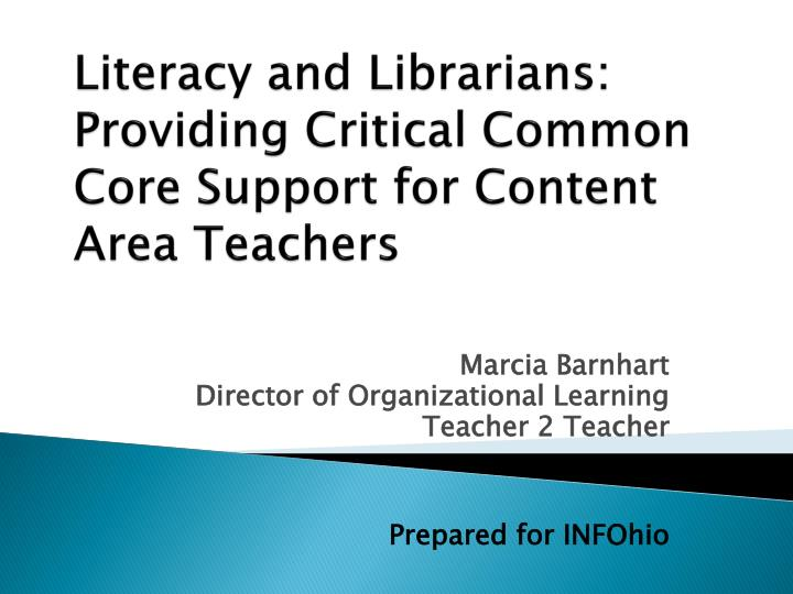 literacy and librarians providing critical common core support for content area teachers n.