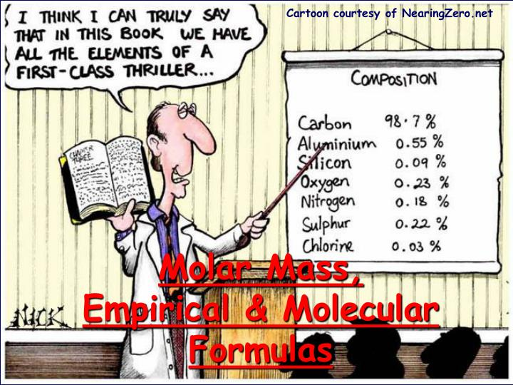 molar mass empirical molecular formulas n.
