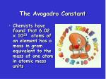 the avogadro constant2