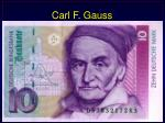 carl f gauss