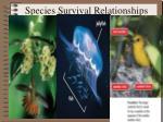 species survival relationships