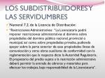 los subdistribuidores y las servidumbres2