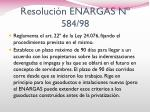 resoluci n enargas n 584 98