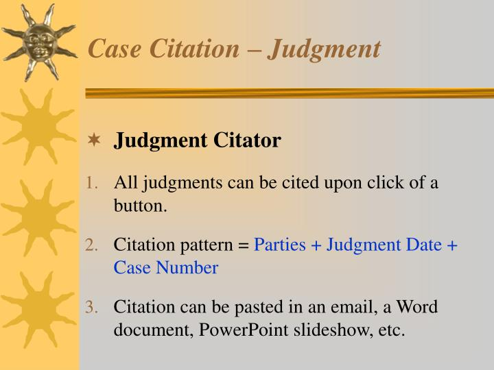 Judgment Citator