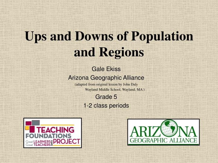 ups and downs of population and regions n.
