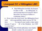 liverpool cc v hillingdon lbc