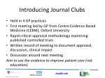 introducing journal clubs