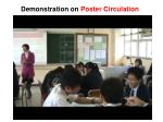 demonstration on poster circulation