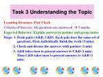 task 3 understanding the topic